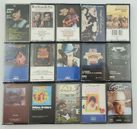 Lot of 15 VTG 80s Cassettes Country/Western/Misc. Willie Nelson Alabama Straight
