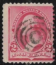 2v0357 Scott 220 US Stamp 1890 2c Washington Used Bullseye Cancel