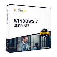 Windows 7 Ultimate - 32 & 64 Bit - Neu & Original - Vollversion - Key - Download
