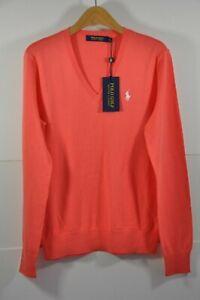 NWT Women's Ralph Lauren GOLF, EXTRA FINE COTTON V-neck Sweater, Size M. $125