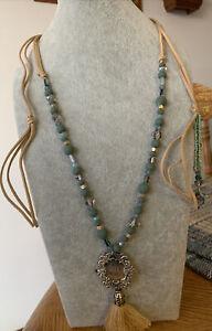 Plunder Design Fashion Vintage Jewelry Coralee GirlBoss BeadCord Tassel Necklace