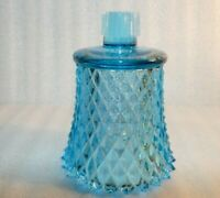 """Blue diamond point glass peg votive sconce candle Replacement holder 3.75"""""""
