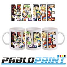 New Dragon Ball Z Personalised mug 11oz Your Name Goku Vegeta DBZ Gift Birthday