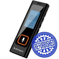 Mini Digital Voice Activated Recorder By Dictopro, 8GB Spy Dictaphone MP3 Player