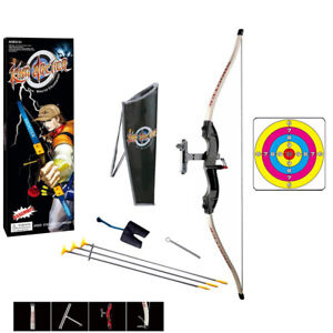 Kids Bow and Arrow Archery Set with Target Quiver Indoor Outdoor Game Toy Gift