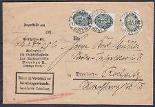 Dr servicio im nº 116 (2), 120 MIF zustellungsurkunde Dresden Amtsgericht 1928