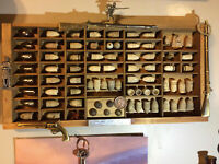 (Civil War Display) 69 Civil War Bullet's  5 Buttons & 1849 Large Copper Cent