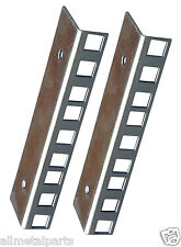 Pair of 3u Zinc Plated Rack Mount Strips Clear Passivate Finish