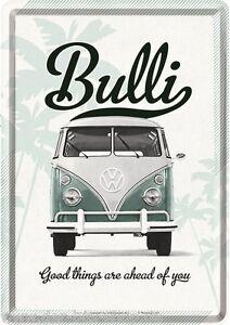 VW Bus T1 - Bulli - Blechschild - Postkarte - Good Things - Neu & OVP