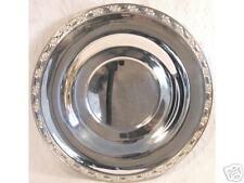 """11.25"""" Victorian Rose Hallmarked Round Tray Platter NR"""