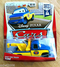 Disney PIXAR Cars TOW TRUCK TOM on 2013 PISTON CUP THEME CARD diecast 2/18 VHTF