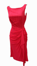 KAREN MILLEN Red Jersey Fit and Flare Side Detail Evening Party Prom Dress UK 8