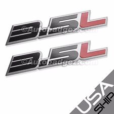 2 - BRAND NEW 3.5L Aluminum Embossed Adhesive Badge Emblems 350z  3.5L Black Red