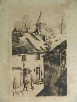 Grabado Firmada George Edward Monograma a Lápiz G.E 26cm