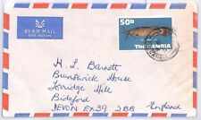 BQ117 1976 The Gambia Banjul Devon Great Britain Airmail {samwells} PTS