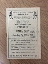 Frickley Colliery v Hull City Res 19th April 1958