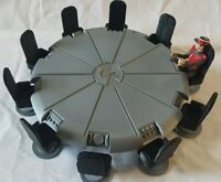 For Captain Scarlet 3.75inch figures.10 seat Conference table and 10 seats