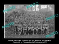OLD HISTORIC PHOTO OF BRITISH ARMY WWI, 39th BATTALION MACHINE GUN CORPS c1918 2