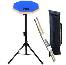 Keepdrum DP-BL  Practice Pad Blau mit Stativ und Tasche + Drumsticks
