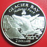 1998 COOK ISLANDS $2 SILVER PROOF HUMPBACK WHALE GLACIER BAY NATIONAL PARK RARE!