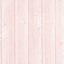 Pink Plank Wood Self Adhesive Wallpaper Roll Wallcovering Contact Paper Sheet