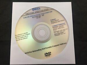 DELL LATITUDE D620 D620 ATG D531 131L D420  D520  D820 Driver Recovery CD DVD