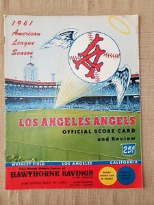 1961 Los Angeles Angels Detroit Tigers First Year Program @ L.A. Wrigley Field