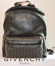 NEW GIVENCHY PARIS WASHED LEATHER SILVER STUDDED BACKPACK WORK TRAVEL BAG