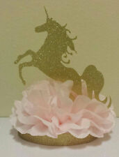 PRINCESS UNICORN PINK GOLD CENTERPIECE BIRTHDAY PARTY BABY SHOWER TABLE DECOR