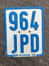 Moped - Kennzeichen, Nummernschild von 1964, Kreidler, DKW, Zündapp etc.