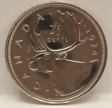 1974 Canada Proof-Like 25 Cents Cut From Mint Set