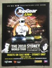 TOP GEAR LIVE WORLD TOUR SYDNEY 2010 Magazine Page Sales Ad Advertisement STIG