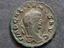 GALLIENUS A.D.253-68, billon Denarius.. Rev - Sol advancing left..  VF