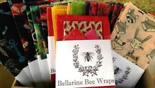 Bellarine Bee Wraps - Handmade Reusable Beeswax Food Wrap - SMALL TWIN PACK