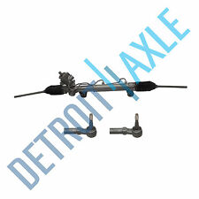 Complete Power Steering Rack and Pinion Assembly + 2 New Outer Tie Rod Ends
