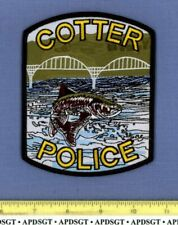 COTTER ARKANSAS Sheriff Police Patch FE LEAPING FISH BRIDGE COLORFUL
