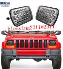 LED Headlights For 1986-1995 Jeep Wrangler 1984-2001 Cherokee 1 PAIR New AAA