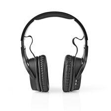 Wireless Cuffie DAB UKW / Bluetooth Over-Ear Pieghevole da Viaggio di Lusso Nero