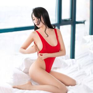Womens Sexy Sheer Mesh Lingerie Romper Bodysuit Leotard Thongs Backless Jumpsuit