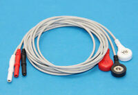High Quality 3 Lead ECG EKG Holter cable Leadwire Fit for Patient Monitor Snap