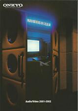 Onkyo HiFi Katalog Prospekt 01/02 TX-DS989 TX-DS898 DV-S939 DX-7333 T-4211 A9211