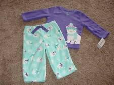 Carter's Baby Girl Fleece Polar Bear Pajamas Set Size 12 Months 12M NWT NEW 9-12