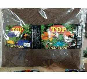 Top Red Plus color enhancer fish food beautiful cichlid fast growing grow 500 g.