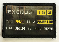 Exodus 15:3 Morale Patch Tactical Military Army Badge Hook Flag