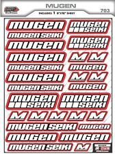 Custom Mugen Seiki RC Sponsor Decals-Mugen Racing Sticker -MBX8 MBX7-NEW COLORS