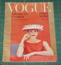 March Vogue 1956 Rare Vintage Vanity Fair Fashion Design Collection Magazine