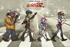 "134 Gorillaz - English Virtual Band Damon Albarn Jamie Hewlett 21""x14"" Poster"