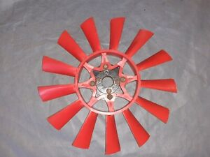 Triumph TR6 Red 13 Blade Cooling Fan and Hub