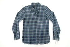 French Connection Mens Blue Checked Flannel Long Sleeved Shirt