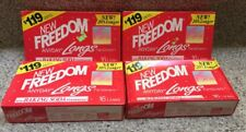 Vintage New Freedom Anyday Longs Pantiliners-1988-Lot of 4 Boxes-64 Count Total